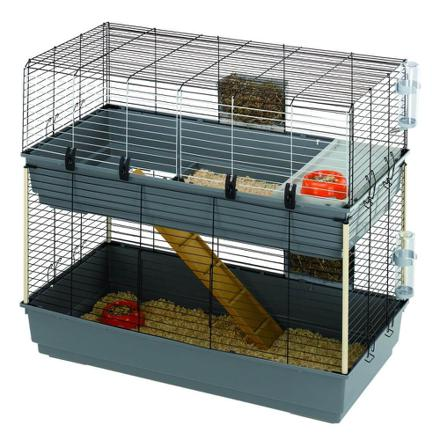 cage double pour lapin