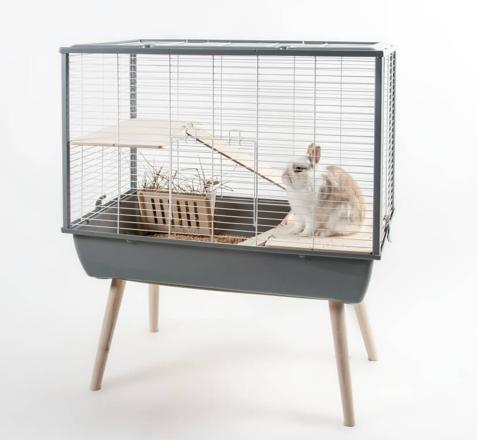 cage lapin sur pied