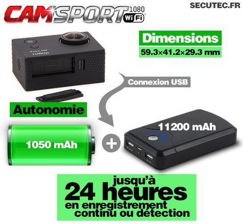 camera longue autonomie