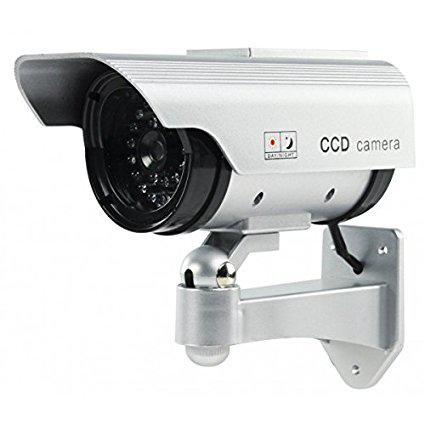 camera video surveillance factice solaire