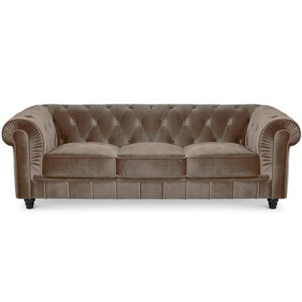 canapé chesterfield velours