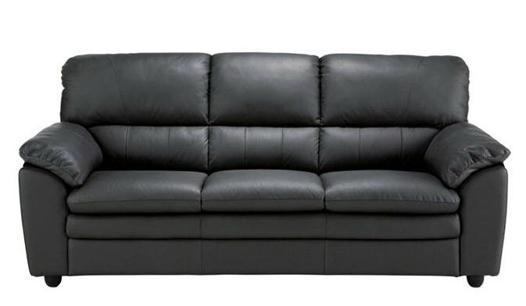 canapé cuir noir but