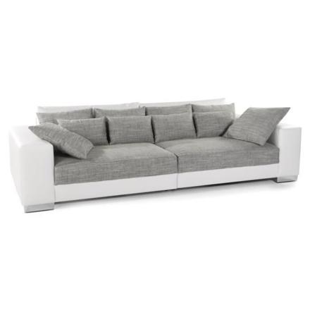 canapé droit gris