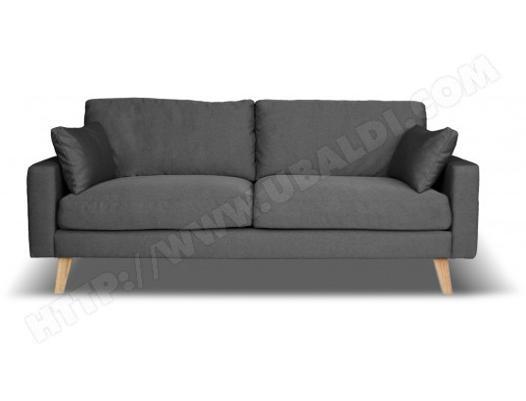 canapé tissu gris pas cher