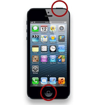 capture decran iphone