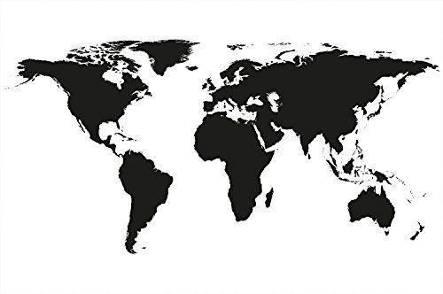 carte du monde noir