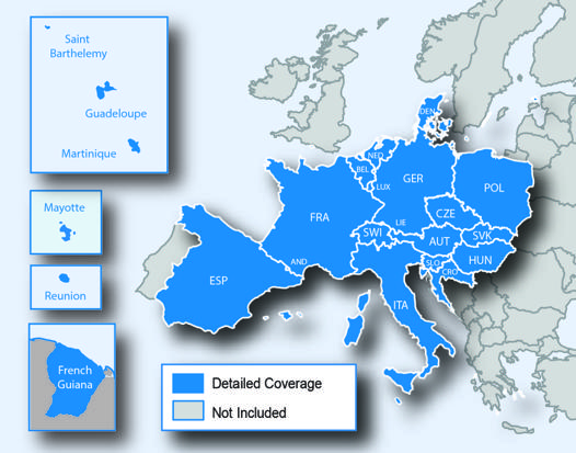 carte europe garmin