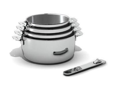 casserole induction inox manche amovible