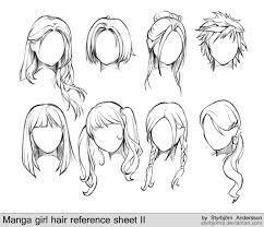 cheveux de fille manga