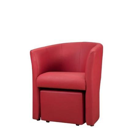 fauteuil rouge pas cher
