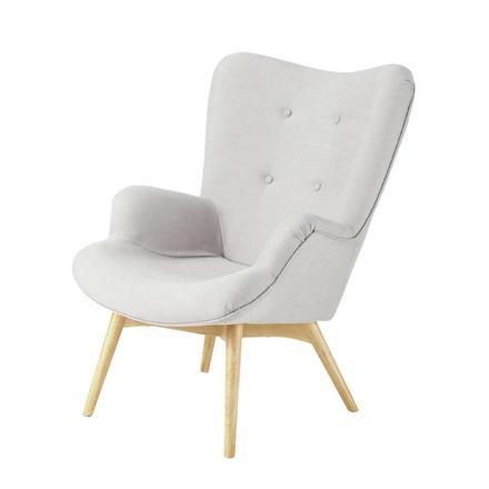 fauteuil scandinave gris clair