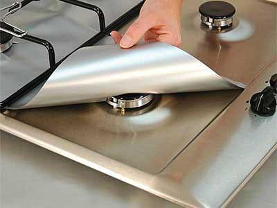 feuille de protection plaque de cuisson gaz