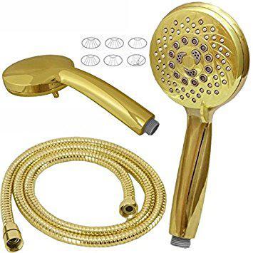 flexible douche doré
