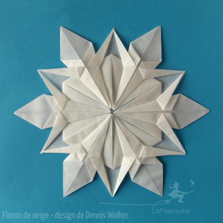 flocon de neige en origami