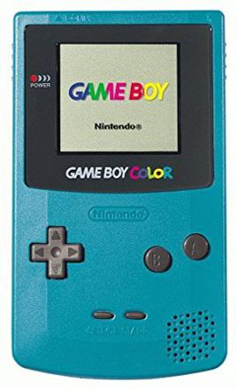 game boy color bleu