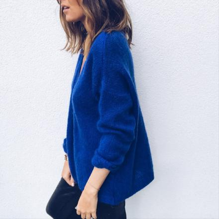 gilet bleu electrique femme