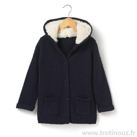 gilet chaud fille