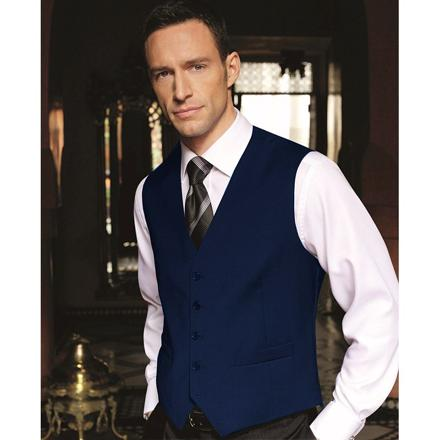 gilet costume homme bleu