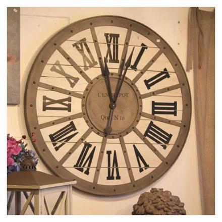 grande horloge murale bois