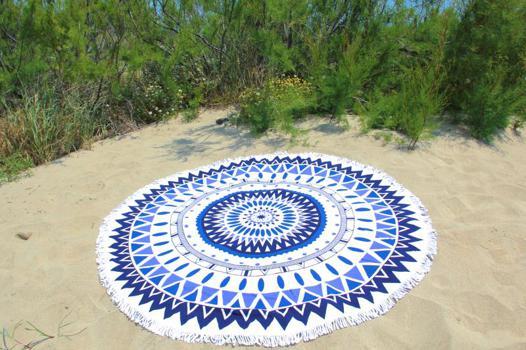 grande serviette de plage ronde