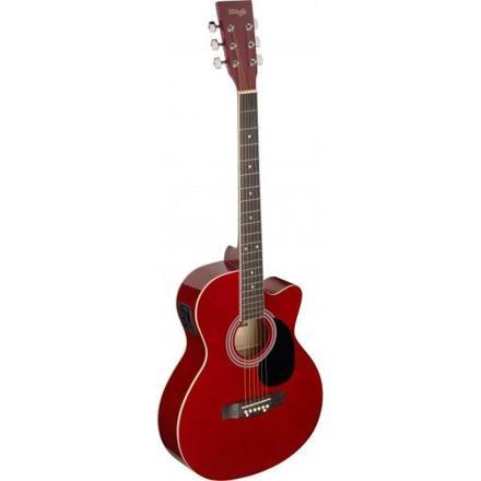 guitare electro acoustique rouge