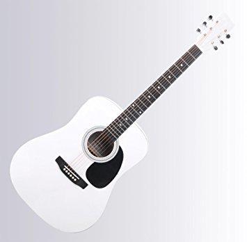 guitare folk blanche