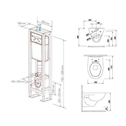 hauteur wc suspendu