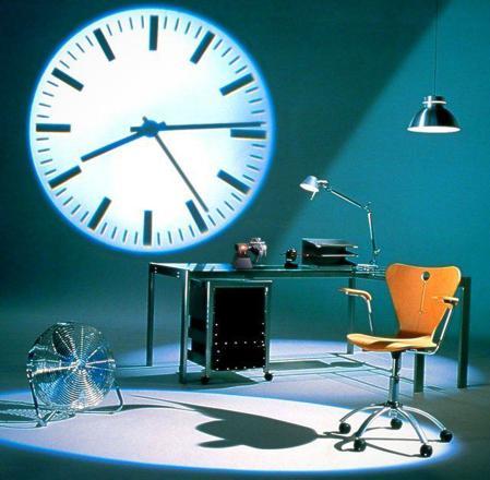 horloge à projection murale
