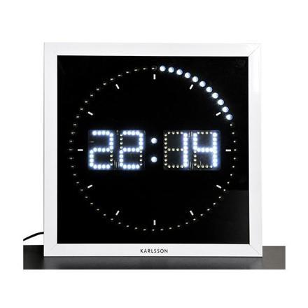 horloge led blanche