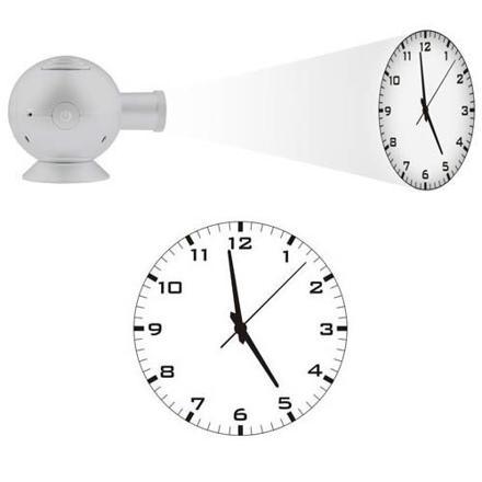 horloge projection murale