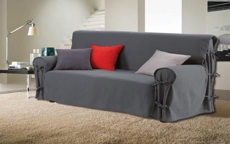housse canapé 3 places gris