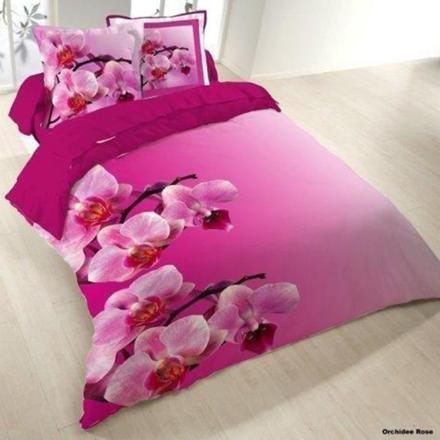 housse de couette orchidée rose
