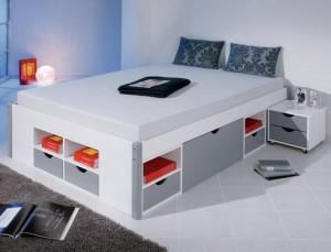 lit 2 places avec rangement pas cher