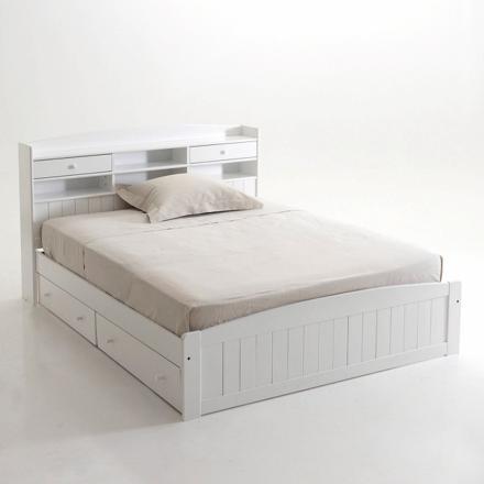 lit 2 places avec tiroirs rangement