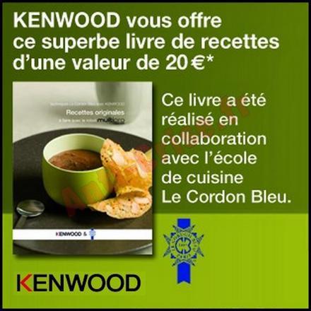 livre de recette robot kenwood