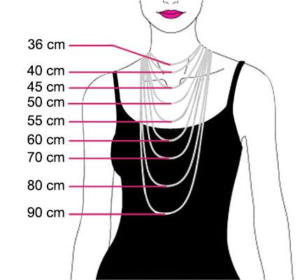 longueur collier femme