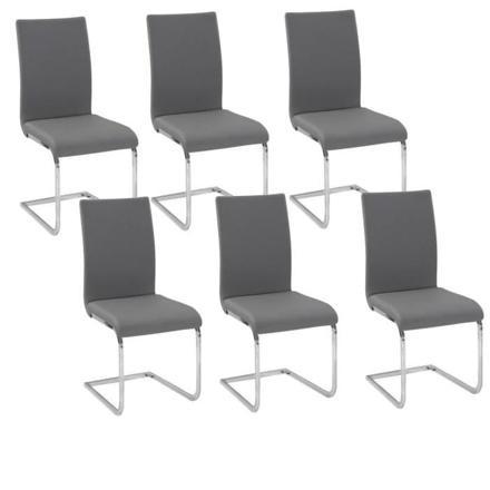 lot 6 chaises grises