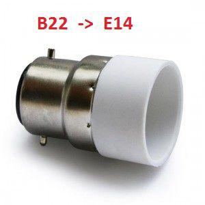 adaptateur douille b22 vers e14
