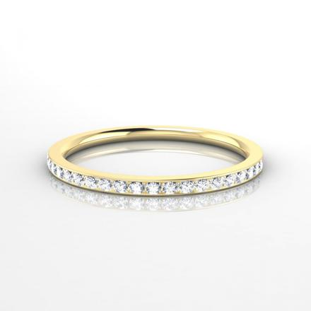 alliance femme or jaune et diamant