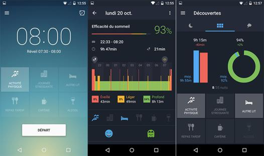 analyse sommeil android