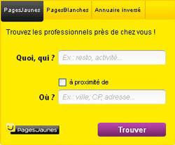 annuaire des pages blanches