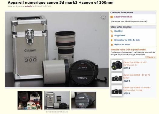 appareil photo le bon coin