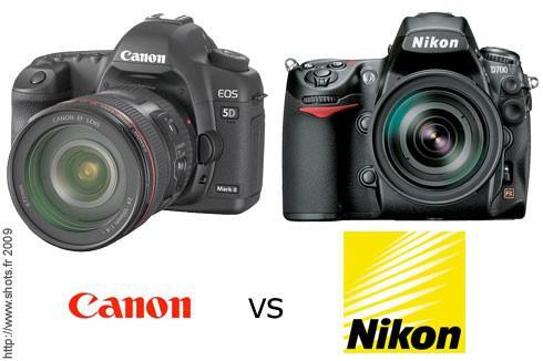 appareil photo reflex nikon ou canon