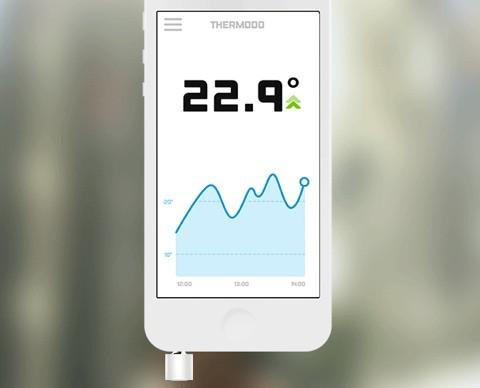 application thermomètre intérieur
