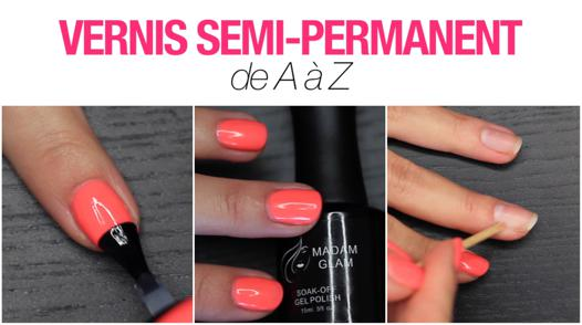 application vernis semi permanent