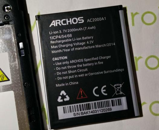 archos batterie ne charge plus