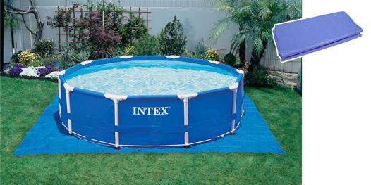 bache sol piscine intex