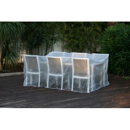 bache table de jardin rectangulaire