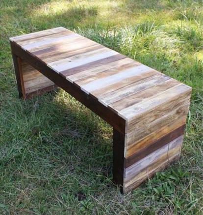 banc en palette de bois