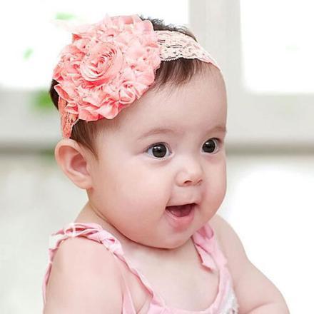 bandeau bebe fleur